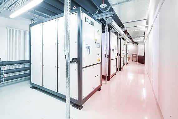 Prozesskühlanlage in geschlossenem Raum